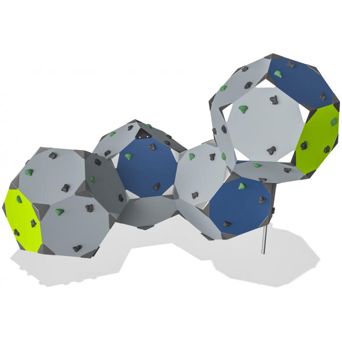 ИКСГ- 047 ''Кубики 4 лимонно зелёные''