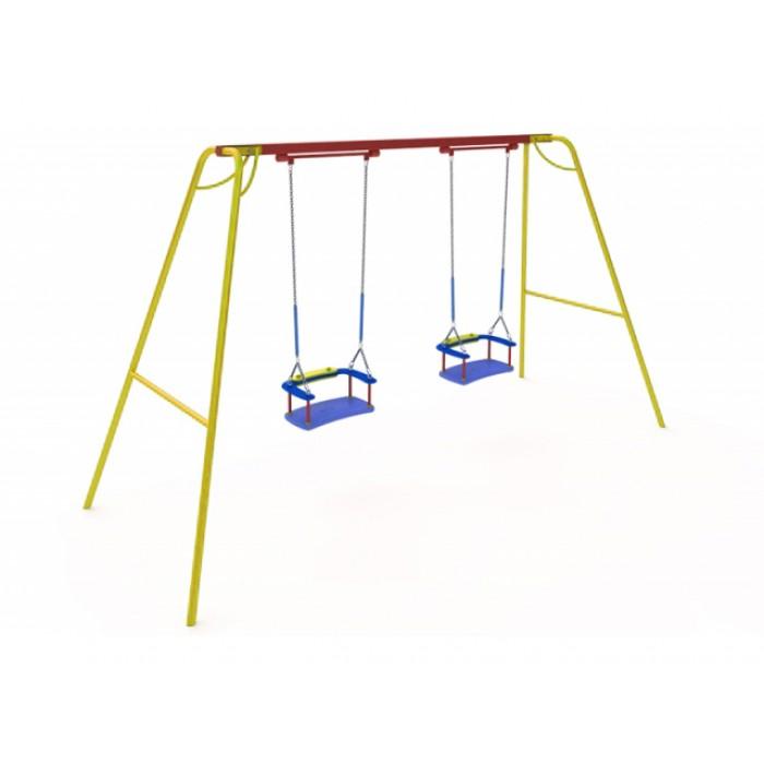 КАЧ-1.13 Рама для подвесных качелей и сиденье со спинкой К-1.01(тип 2)