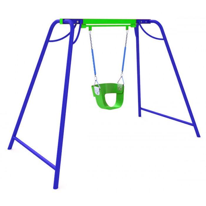КАЧ-1.5.1 Рама для подвесных качелей и сиденье пластиковое со спинкой К-1.03