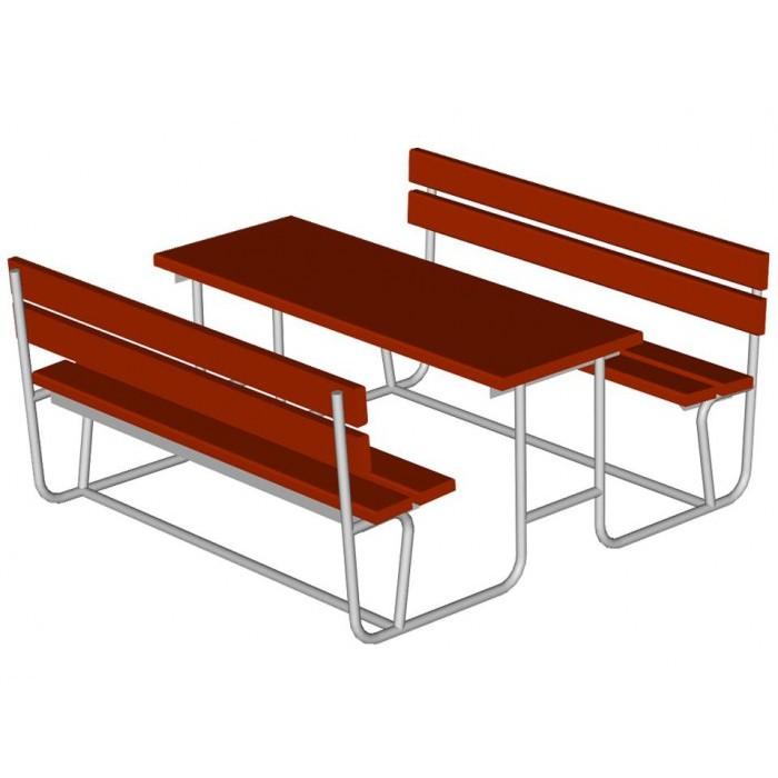 Стол со скамьями 2605