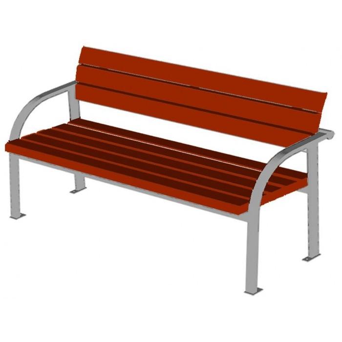 Диван садово-парковый на металлических ножках 2205