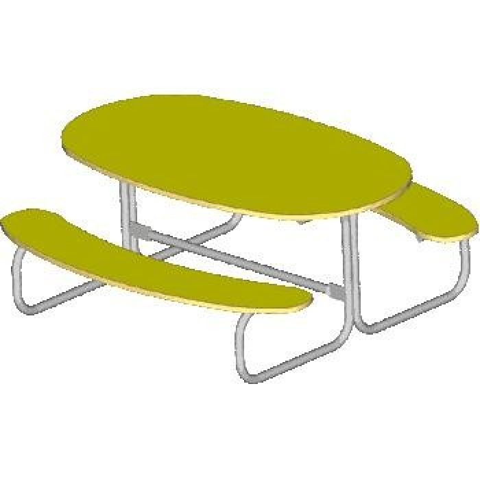 Стол со скамьями детский 2606