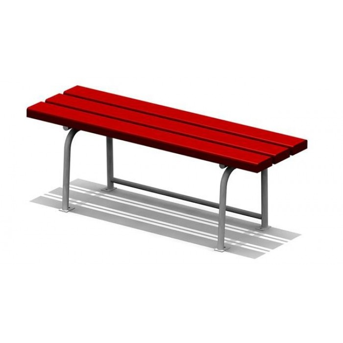 Скамья садово-парковая на металлических ножках 2214